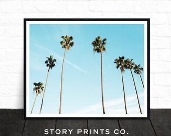 Palm Tree Print, Landscape Print, California Print, Palm Tree Art, Tropical Print, Sky Photo, Nature Photography, Bohemian, Digital Download