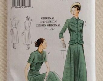 5f717949c5bc Vogue Pattern 9052 - Original 1949 Design - Misses' Jacket, Dress and Belt  - Sizes 8 thru 16 - UNCUT