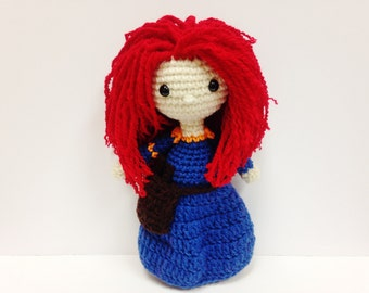 Crochet Merida Brave Inspired Doll