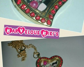 Floating locket hello kitty inspired