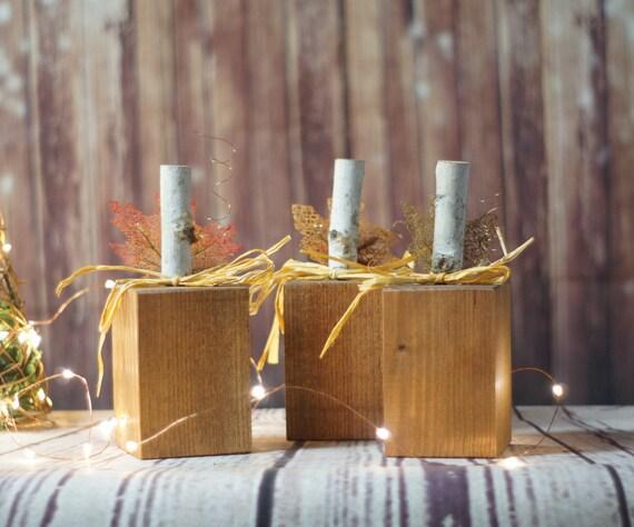 Reclaimed Wood Block Pumpkins