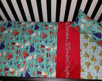Under the sea Blanket and pillow