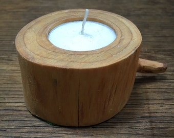 Natural Wood Tea-Light Holders