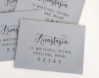 Return Address Rubber Stamp. Custom Mailing Stamps. Return to Sender Address Rubber Stamp. Wedding Envelope Stamp. Custom Stamp (SADDR135)