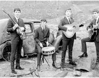 Beatles Music Anywhere Vintage Art Poster