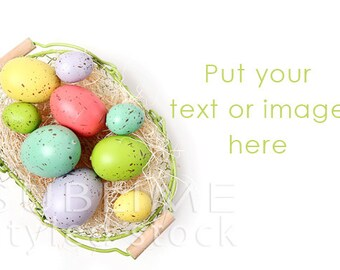Easter Background / Styled Stock Photography / Spring Background / Spring Digital / Easter styled / Easter basket / JPEG / StockStyle-657