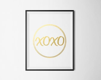XOXO Foil Print- REAL FOIL