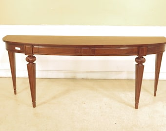 28138E:  Large Solid Mahogany Continental Style Console Table