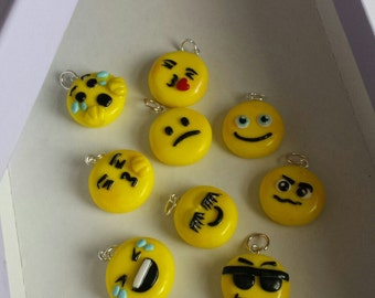 Emoji Charms Polymer clay