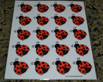 24 Lady Bug Stickers/Lady Bug Envelope Seals/Stickers/Envelope Seal/Lady Bug /Envelope Seals/Lady Bugs