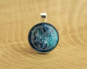 Wibbly Wobbly Timey Wimey in Gallifreyan, Doctor Who Pendant Necklace