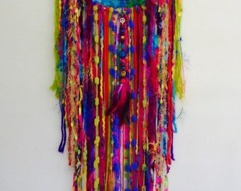 Rainbow Hippie Bohemian Dreamcatcher