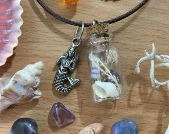 Mermaid Magic Bottle Necklace