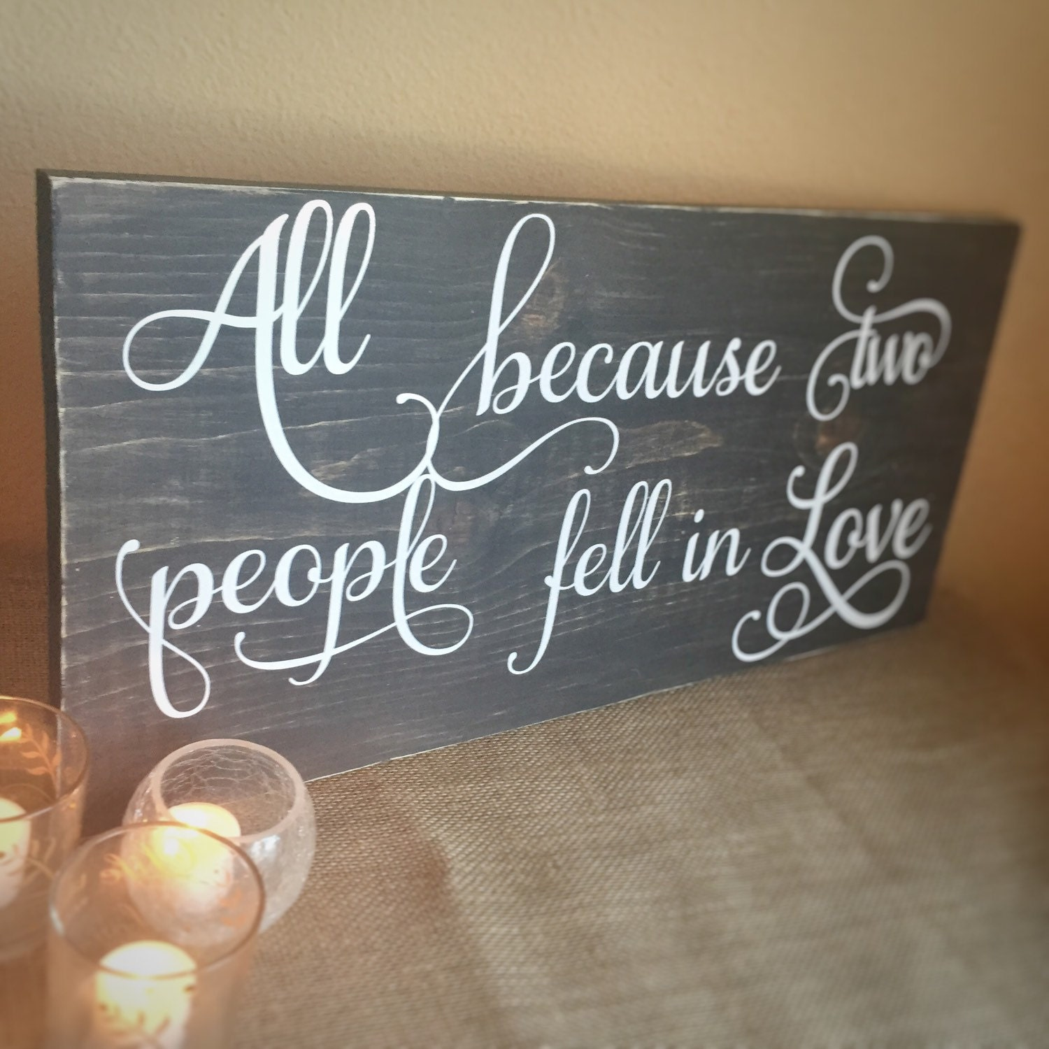 Rustic home decor wooden quote sign rustic country wedding for Home decor quotes signs