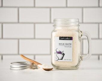 Milk Bath, Fig and Plum, Organic Milk Bath, Natural Milk Bath, Organic Bath Soak, Milk and Honey Bath Soak, Milk Bath 16 oz