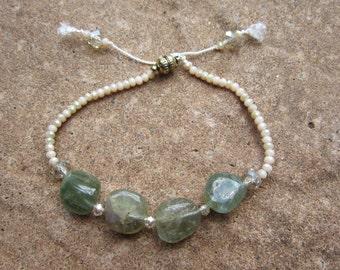 Aquamarine and Czech Glass Bead Bracelet