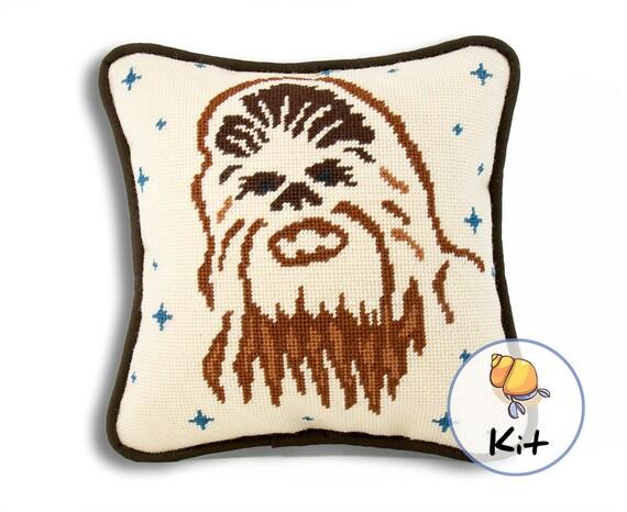 Modern Needlepoint Pillow Kits : Chewbacca Needlepoint Kit Fun Modern Needlepoint Canvas