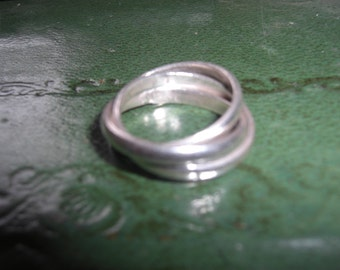 Vintage Sterling Silver Rolling Ring sz 7