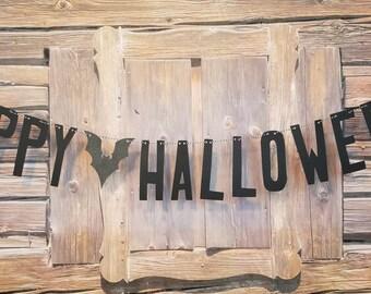 Happy Halloween Banner, Halloween Bat Banner, Halloween Decoration, Happy Halloween Bat Banner, Bat Banner, Halloween Decor, Bat Garland