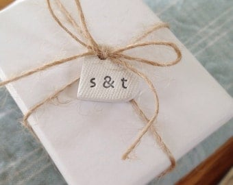10 / 25 wedding favor tags / heart tags / personalised wedding favours / wedding table centres / wedding decor