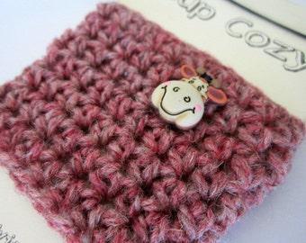 FREE SHIPPING Coffee /Tea Mug Cozy / Sleeve / Cup Cozy Mug Warmer Hand Crocheted
