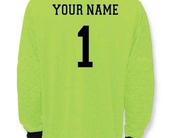 Soccer Goalie Jersey customized with your name and number on back