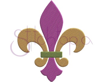 Fleur de Lis Embroidery Design - 9 sizes 10 Formats Digital Machine Embroidery Design Mardi Gras Embroidery Design - Instant Download Files