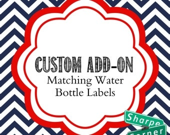 Matching Water Bottle Labels - Printable