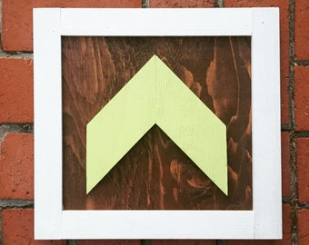 Mini Chevron Wood Art - 12 x 12