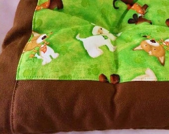 Lime Green/Brown Dog Bed - Hand Made in AUSTRALIA to last!