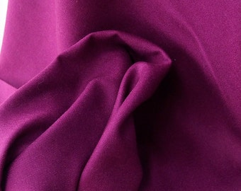 Burgundy plum wool fabric medium weight wool suiting fabric 100% pure wool suitable for skirt pinafore dress jacket cape light coat