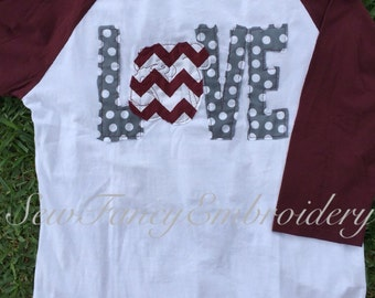 Mississippi State Inspired Bulldogs Love tee, baseball tee, mississippi state, Bulldogs shirt, mississippi shirt, bulldog shirt, monogrammed
