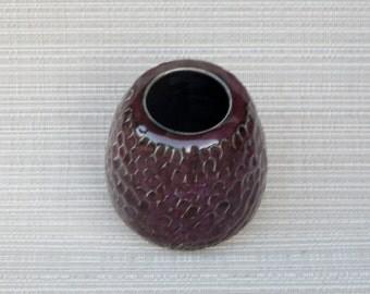 Vase, handmade vase, pottery vase, handmade pottery vase, handmade pottery purple vase, purple vase, dimensional vase