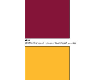 Cleveland Cavaliers - Pantone Poster Wall Art