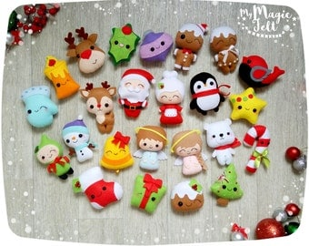 Christmas ornaments felt ornament Christmas felt Decor Big set cute Christmas favors Christmas tree ornaments Gift for Christmas