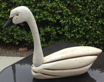 Hand Carved Swan Signed by Artist
