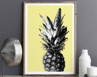 Botanical Print, PINEAPPLE PRINT, Pineapple, Botanical Art, Botanical Decor, Botanical Wall Art, Kitchen Wall Art, Wall Art Prints,Art Print