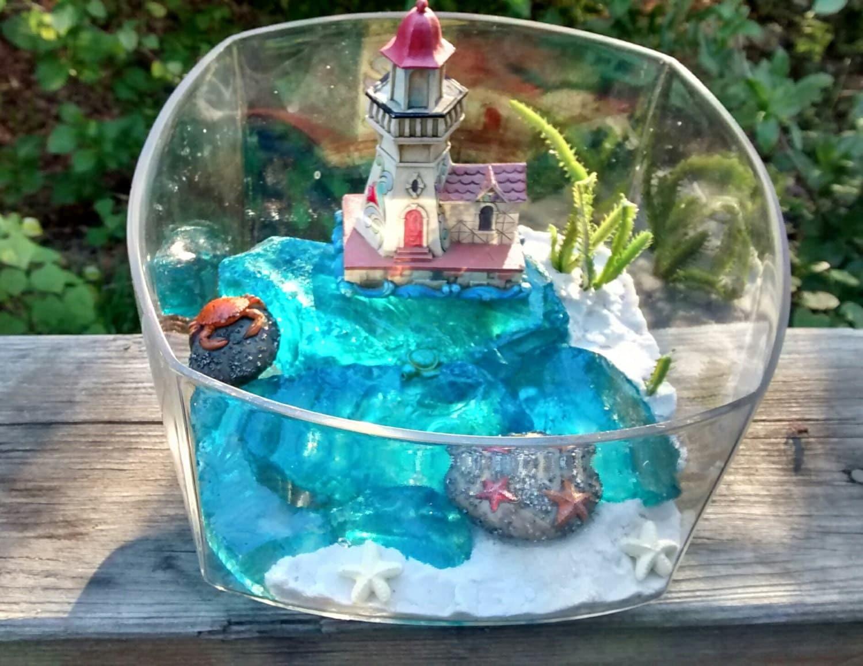 beach terrarium kit desktop beach ocean diy mini dish garden. Black Bedroom Furniture Sets. Home Design Ideas