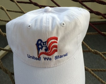 United We Stand - White Patriotic Cap