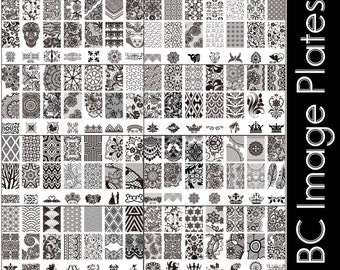 Stamping Nail Art Image Plate Design Rectangle XL Stencil metal lace flower patterns manicure template stencil