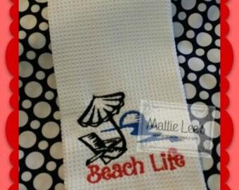 Kitchen Towel. Beach Life
