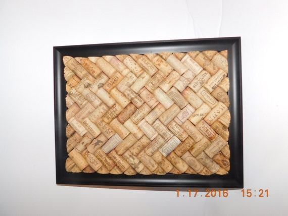 wine cork board w houndstooth pattern