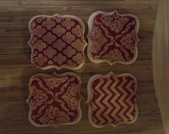 Demask Pattern Sugar Cookies