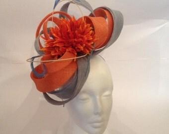 wedding blue and orange Hat