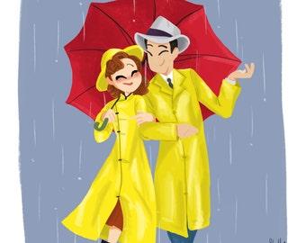 Singin' In the Rain 8x10 Art Print