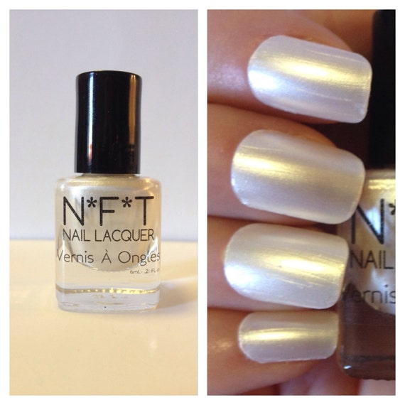 Pearl Nail Polish: N15 Pearly Pearl White Nail Polish / Indie Lacquer