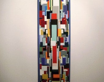 "SOLD     paper wall sculpture,titled ""back to square one"""