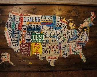 License plate map Etsy