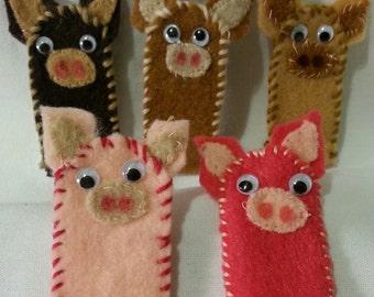 Animal Finger Puppets (5 pcs)