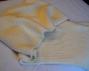 Vintage Scarf Winter Long Cream/Off White/Morgan Taylor